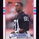 1989 Topps Football #265 Tim Brown RC - Los Angeles Raiders