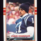 1989 Topps Football #209 Chris Chandler RC - Indianapolis Colts