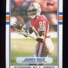 1989 Topps Football #007 Jerry Rice - San Francisco 49ers