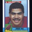 1990 Topps Football #381 Junior Seau RC - San Diego Chargers