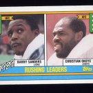 1990 Topps Football #028 Barry Sanders / Christian Okoye LL