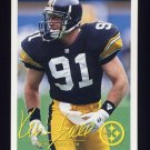 1994 FACT Fleer Shell Football #84 Kevin Greene - Pittsburgh Steelers