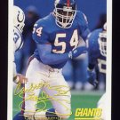 1994 FACT Fleer Shell Football #51 Carlton Bailey - New York Giants