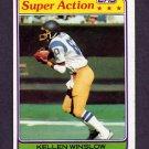 1981 Topps Football #524 Kellen Winslow SA - San Diego Chargers VgEx