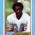 1981 Topps Football #518 Billy Johnson - Houston Oilers