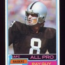1981 Topps Football #510 Ray Guy - Oakland Raiders VgEx