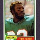 1981 Topps Football #506 Tony Nathan RC - Miami Dolphins VgEx