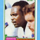 1981 Topps Football #504 Beasley Reece - New York Giants