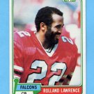1981 Topps Football #497 Rolland Lawrence - Atlanta Falcons