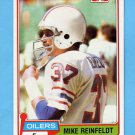 1981 Topps Football #491 Mike Reinfeldt - Houston Oilers