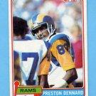 1981 Topps Football #489 Preston Dennard - Los Angeles Rams