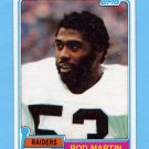 1981 Topps Football #487 Rod Martin RC - Oakland Raiders NM-M