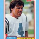 1981 Topps Football #483 Mike Bragg - Baltimore Colts