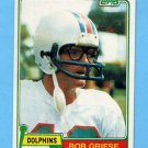 1981 Topps Football #482 Bob Griese - Miami Dolphins