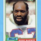 1981 Topps Football #481 Reggie McKenzie - Buffalo Bills
