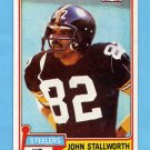 1981 Topps Football #476 John Stallworth - Pittsburgh Steelers