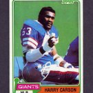 1981 Topps Football #475 Harry Carson - New York Giants