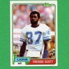 1981 Topps Football #463 Freddie Scott - Detroit Lions ExMt