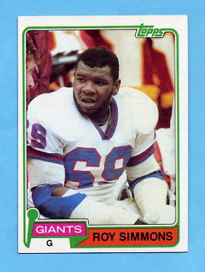 NFL Player Roy Simmons, Who Later