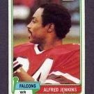 1981 Topps Football #448 Alfred Jenkins - Atlanta Falcons VgEx