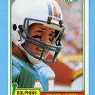 1981 Topps Football #444 Bruce Hardy RC - Miami Dolphins