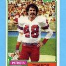1981 Topps Football #434 Tim Fox - New England Patriots