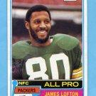 1981 Topps Football #430 James Lofton - Green Bay Packers
