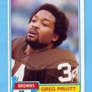 1981 Topps Football #415 Greg Pruitt - Cleveland Browns