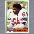1981 Topps Football #414 Richard Bishop - New England Patriots
