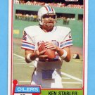 1981 Topps Football #405 Ken Stabler - Houston Oilers Vg