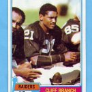 1981 Topps Football #403 Cliff Branch - Oakland Raiders NM-M