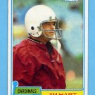 1981 Topps Football #401 Jim Hart - St. Louis Cardinals