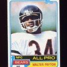 1981 Topps Football #400 Walter Payton - Chicago Bears VgEx
