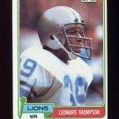 1981 Topps Football #386 Leonard Thompson - Detroit Lions