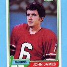 1981 Topps Football #367 John James - Atlanta Falcons
