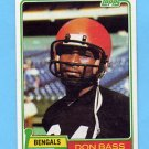 1981 Topps Football #347 Don Bass - Cincinnati Bengals