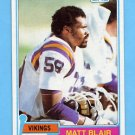 1981 Topps Football #346 Matt Blair - Minnesota Vikings NM-M