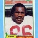 1981 Topps Football #344 Charley Young - San Francisco 49ers