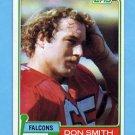 1981 Topps Football #339 Don Smith - Atlanta Falcons