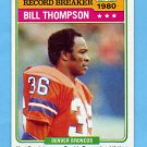 1981 Topps Football #336 Bill Thompson RB - Denver Broncos