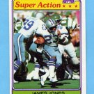 1981 Topps Football #327 James Jones SA - Dallas Cowboys