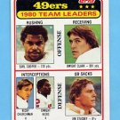 1981 Topps Football #319 San Francisco 49ers TL / Dwight Clark NM-M