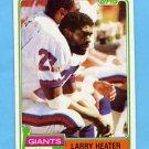 1981 Topps Football #309 Larry Heater - New York Giants