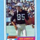 1981 Topps Football #308 Bob Chandler - Oakland Raiders