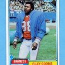 1981 Topps Football #307 Riley Odoms - Denver Broncos