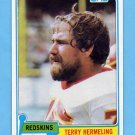1981 Topps Football #299 Terry Hermeling - Washington Redskins