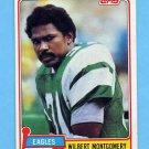 1981 Topps Football #295 Wilbert Montgomery - Philadelphia Eagles