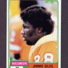 1981 Topps Football #293 Jimmie Giles - Tampa Bay Buccaneers