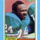 1981 Topps Football #287 Delvin Williams - Miami Dolphins