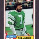 1981 Topps Football #280 Ron Jaworski - Philadelphia Eagles